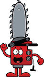 Cartoon Chainsaw Happy Royalty Free Stock Photo