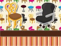 Cartoon chair furniture card vector illustration