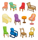 Cartoon chair furniture icon set Stock Photo