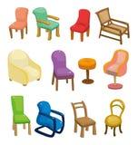 Cartoon chair furniture icon set Stock Photo