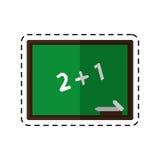 Cartoon chalkboard class school chalk Royalty Free Stock Photos
