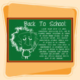 Cartoon Chalkboard With Space For Text Royalty Free Stock Images