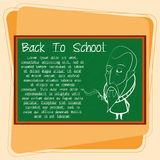 Cartoon Chalkboard With Space For Text Royalty Free Stock Image