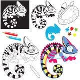 Cartoon chameleon lizard Stock Image
