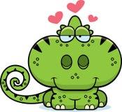 Cartoon Chameleon Love Stock Photo