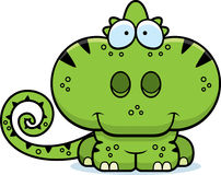 Cartoon Chameleon Smiling. A cartoon illustration of a chameleon happy and smiling Royalty Free Stock Photo