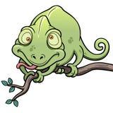 Cartoon Chameleon. Vector illustration of Cartoon Chameleon Stock Photos
