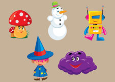 Cartoon character. Vector illustration of cartoon colored characters Stock Image