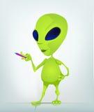 Cartoon_Character_ALIEN_030_2_CS5 Royalty Free Stock Image