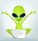 Cartoon_Character_ALIEN_032_CS5 Royalty Free Stock Photos