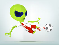 Cartoon_Character_ALIEN_041_CS5 Royalty Free Stock Photos
