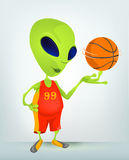 Cartoon_Character_ALIEN_042_CS5 Royalty Free Stock Image