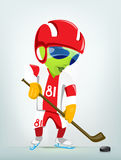 Cartoon_Character_ALIEN_045_CS5 Royalty Free Stock Image
