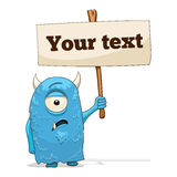 Cartoon character alien with place for text Royalty Free Stock Images