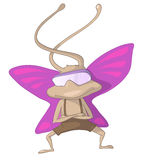 Cartoon Character Artful Pilot Butterfly Royalty Free Stock Images