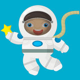 Cartoon character - astronaut Stock Image