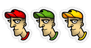 Cartoon character avatar Stock Photos