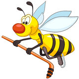 Cartoon Character Bee. Isolated on White Background stock illustration