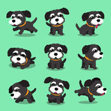 Cartoon character black norfolk terrier dog poses Stock Images