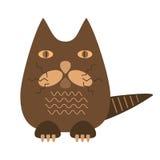 Cartoon character brown cat. Vector cartoon character brown cat Royalty Free Stock Photos