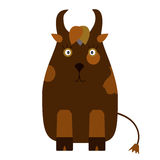 Cartoon character brown cow Stock Images