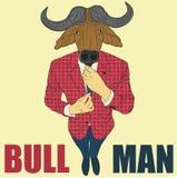 Cartoon character bull Royalty Free Stock Photos