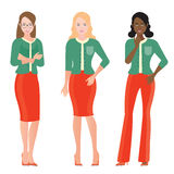 Cartoon character of Business Women in smart suit Royalty Free Stock Photography