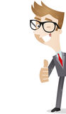 Cartoon character: Businessman thumbs up Royalty Free Stock Photos
