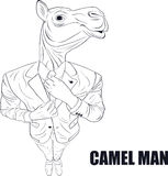 Cartoon character camel Royalty Free Stock Images