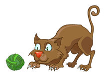 Cartoon Character Cat Stock Image