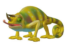 Cartoon Character Chameleon Stock Photography