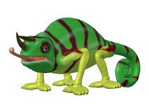 Cartoon Character Chameleon Stock Images