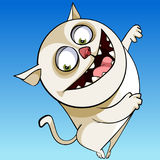 Cartoon character cheerful funny chubby cat smiling Royalty Free Stock Photography