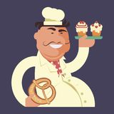 Cartoon character chef Royalty Free Stock Photo