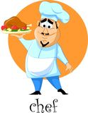 Cartoon character- chef,vector Royalty Free Stock Image