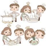 Cartoon character Chef naive cartoon Stock Photo