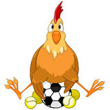 Cartoon Character Chicken Royalty Free Stock Images