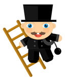Cartoon character - chimney-sweep Stock Image