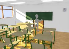 Cartoon character in classroom teaching2 Royalty Free Stock Image