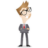 Cartoon Character: Confident businessman Stock Images