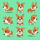 Cartoon character corgi dog poses Stock Images