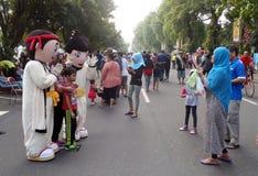 Cartoon character costumes Stock Photo