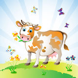 Cartoon character of cow Stock Photography