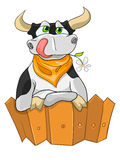 Cartoon Character Cow Stock Image