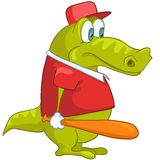 Cartoon Character Crocodile Stock Image