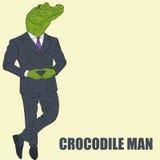 Cartoon character crocodile Stock Photos