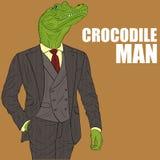 Cartoon character crocodile Royalty Free Stock Photo