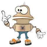 Cartoon character cute robot Stock Photography