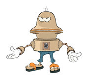 Cartoon character cute robot Royalty Free Stock Photos