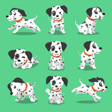 Cartoon character dalmatian dog poses vector illustration